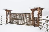 Traditional romanian wooden gate