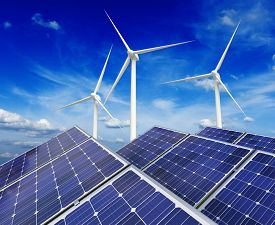image of ecology  - Green alternative energy and environment protection ecology concept  - JPG
