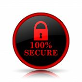image of 100 percent  - 100 percent secure icon - JPG