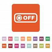 stock photo of toggle switch  - The off button icon - JPG