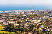 picture of marina  - Sunny Santa Barbara California Cityscape Panorama - JPG
