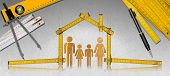 stock photo of family planning  - House project concept - JPG