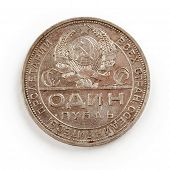 pic of copper coins  - Old Coin isolated on the white background - JPG