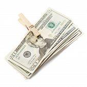 pic of twenty dollars  - Twenty Dollars isolated on the white background - JPG