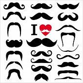 pic of moustache  - Moustaches set - JPG