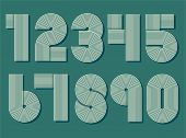 pic of funky  - Retro stripes funky numbers set - JPG