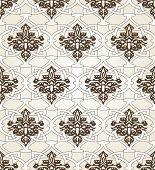 stock photo of arabian  - Seamless pattern background in Arabian style - JPG