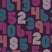 stock photo of funky  - Retro stripes funky numbers settrendy elegant retro style design - JPG