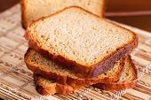 foto of home-made bread  - Slices of home made bread - JPG