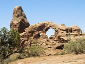 foto of turret arch  - The distinctive and well - JPG