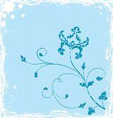Grunge Background flor, elementos de Design, vetor