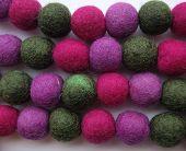 Felted woolen balls