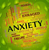 Постер, плакат: Anxiety Word Means Concern Words And Apprehension