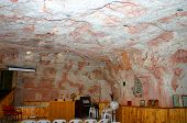 stock photo of bottomless  - underground church at coober bedy in australian outback - JPG