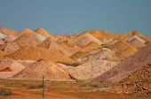 stock photo of bottomless  - digouts at breakaways near australian coober pedy - JPG