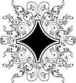 Elemento para Vector Design, quadro de flor,