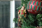 Wooden St. Nick (Santa Claus) Christmas Ornament
