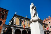 pic of alighieri  - Piazza dei Signori also known as Piazza Dante in Verona - JPG