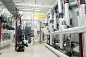 Sala de calderas de Gas moderna