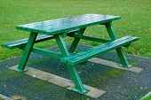 Wet Picnic Table