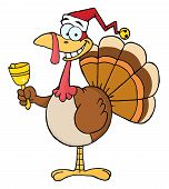 Christmas Turkey Ringing A Bell