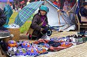 H'Mong Tribe Member at Market