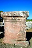 picture of epidavros  - old column at historical site of epidavros - JPG