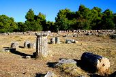 foto of epidavros  - view over the historical site of epidavros - JPG