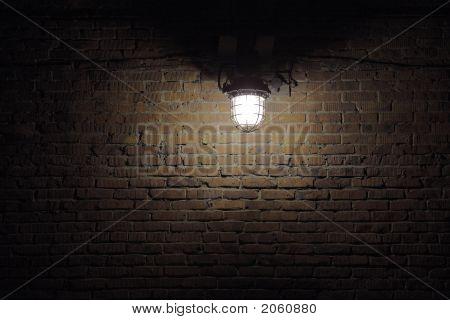 Isolated Lamp Lighting Spot On