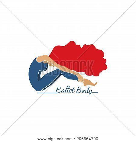 Dance Icon Concept Ballet Studio Logo Design Template Flat