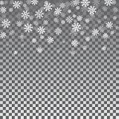 Snowflake Transparent Background poster