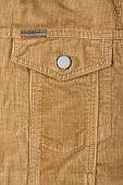 corduroy pants - pocket detail