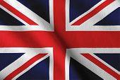 Satin British flag
