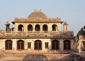 Eastern part of Nagaur's palace in Rajasthan during sunset.
