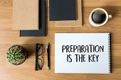 Be Prepared And Preparation Is The Key Plan Perform  Business Concept poster