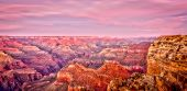 foto of grand canyon  - Grand Canyon in the glow of sunset - JPG