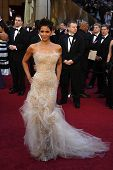 LOS ANGELES - 27 de FEB: Halle Berry llega en la 83ª Annual Academy Awards - Oscar en el Kodak T