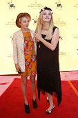 LOS ANGELES - OCT 10:  Mischa Barton and her sister arriving at the Veuve Cliquot Polo Classic Los A