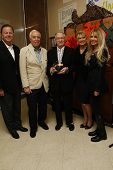 LOS ANGELES - NOV 18:  Beverly Hills Police Chief David Snowden, Richard Rosenzweig, Hugh Hefner, Dr