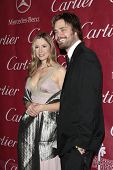 PALM SPRINGS - Jan 6:  Mira Sorvino and husband Christopher Backus attend the 20th Palm Springs Film Festival Gala on January 6, 2009 in Palm Springs, California.