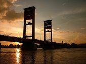 Sunset at Ampera Bridge