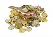 Magical Lamp Full Of Gold Coins