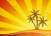 Orange summer design