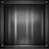Schwarz Metall Textur