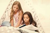 Best Books For Kids. Children Read Book In Bed. Reading Before Bed Can Help Sleep Better At Night. S poster