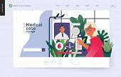 Medical Insurance Template -medical Case Manager -modern Flat Vector Concept Digital Illustration Of poster