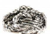 monochrome scarf in Arabic style