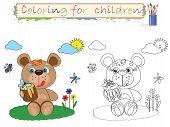 Coloring for children ,  bear