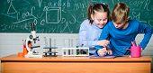 Chemistry Equipment. Happy Children. Chemistry Lesson. Chemistry Education. Little Kids Learning Che poster