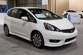 JACKSONVILLE, FLORIDA-FEBRUARY 18: A 2012 Honda Fit Sport on display at the Jacksonville Car Show on